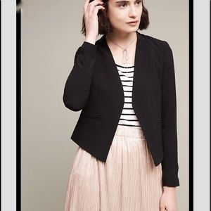 Anthropologie The Essential Blazer Black 8